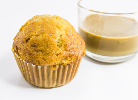 bannana: Bannana Muffins and coffee