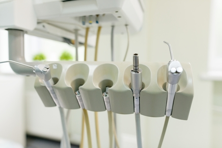 Dentist tools and equipment, instruments for health care and teeth care.