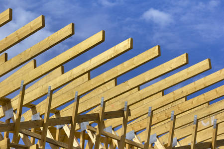 planking: Wooden construction as scaffold or wood planking.