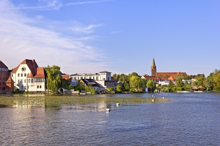 View to the Town Brandenburg an der Havel, with the Cathedral Island Cathedral Iceland. It is the historic heart of the town. Here stands its oldest edifice: the Cathedral of St Peter and Paul Cathedral of Saint Peter and Saint Paul. Although construction Imagens