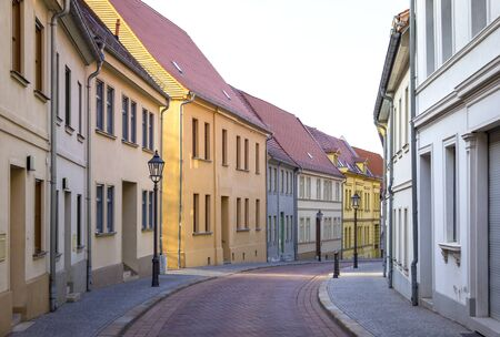 backwater: Typical German Small-Town Town, typical architecture, small streets, rural backwater. Stock Photo