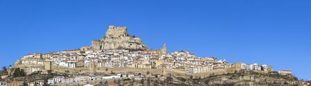 valencian: Beautiful mountain village of Morella in the Spanish province CastellÃ��,³n (Valencian Country). Stock Photo