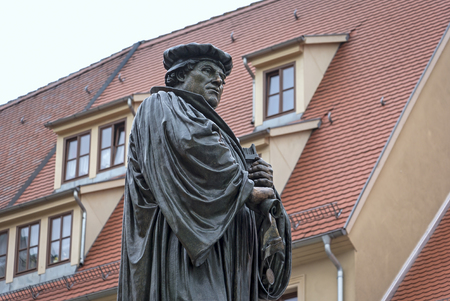 Bronze statue of Martin Luther in Eisleben. Eisleben is also the birthplace of the great reformer. The sculpture was created in 1883 by Rudolf Siemering. Rudolph Siemering (born 1835, died 1905) was a German sculptor known for his works in Germany and the