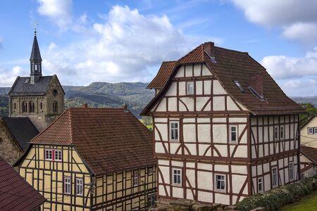 Avis de Treffurt, un petit village de la forêt de Thuringe, Thuringe, Allemagne Banque d'images