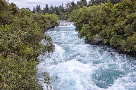 View to the nice Huka Falls, North Island, New Zealand