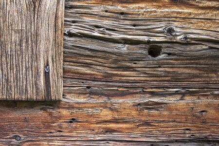 Weathered Wooden texture - Nature Backgrounds, weathered wood plank with knothole on side of barn.