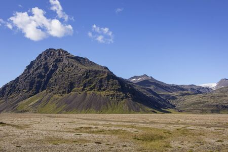 View of a wonderful and sublime landscape in the eastern part of Iceland in summer.