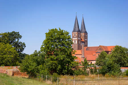The Jerichow Monastery is a former Premonstratensian monastery located near the Elbe River, in the state of Saxony-Anhalt of Germany. It is one of the oldest brick buildings in northern Germany. The monastery was founded in 1144.