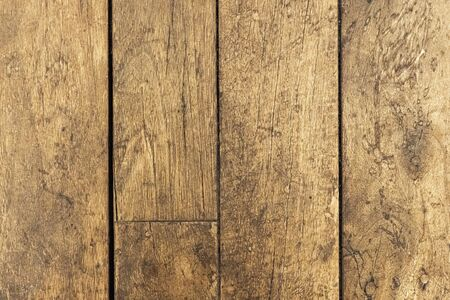 Old wooden pallet plank texture background. Striped timber desk close up, old floor surface, brown boards. Rural fence floor backdrop. Vintage rustic old timber texture. Top view, closeup