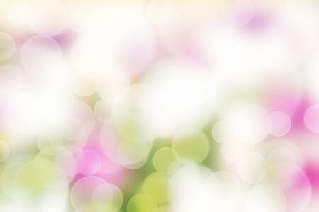 Blurred flower summer lights on soft colorful background. Summer green garden. Pink floral background. Nature, ecology concept. Abstract defocused flower wallpaper. Spring flowers Фото со стока