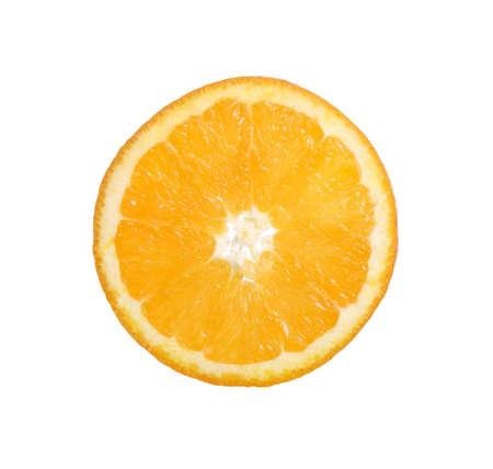 Isolated orange segment on the wite background Stock Photo