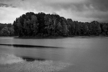 restless: restless scene of a lake in forest