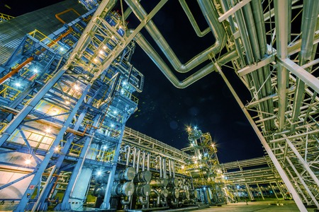 big Oil and gas Refinery At Night Reklamní fotografie - 37835454