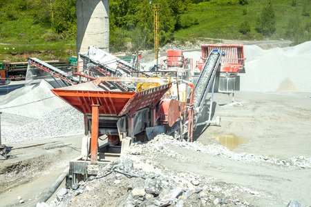 dolomite: Industrial work in the summer when the weather is clear Stock Photo