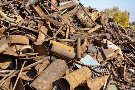 corroding: a lot of rusty scrap metal closeup