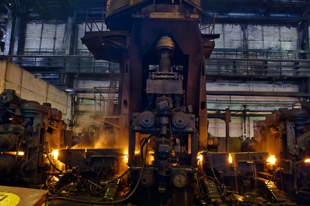producing: different equipment inside workshop for steel producing