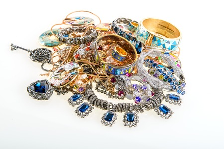 variety of jewels and precious gemstones background