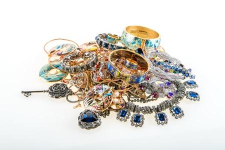 edelstenen: variety of jewels and precious gemstones background