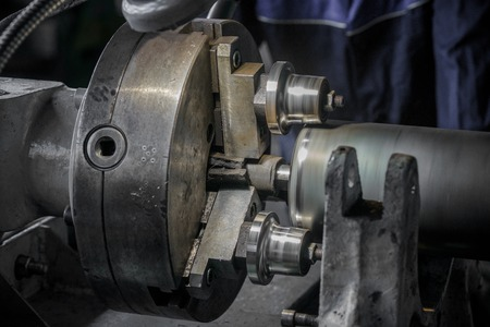 Close-up of industrial machine in the factory Stock Photo
