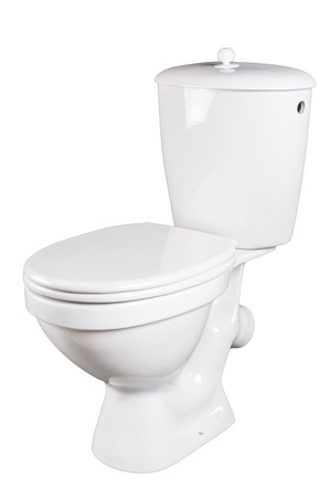 watercloset: toilet bowl isolated on a white background