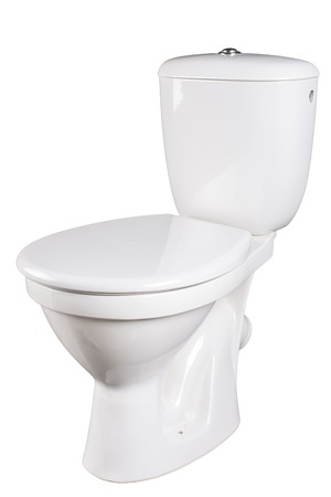 toilet bowl isolated on a white background