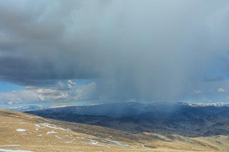 summit mountain terrain Stock Photo