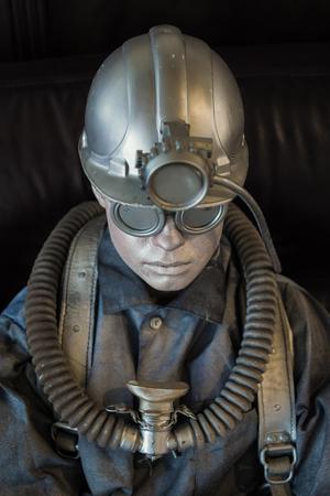 mannequin on miner equipment Standard-Bild