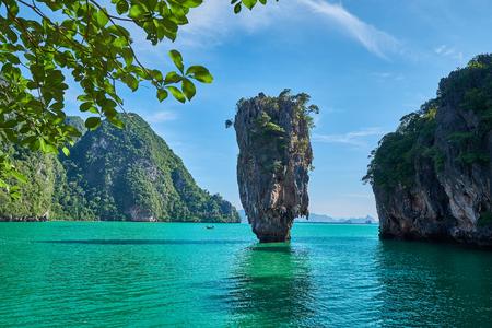 Beautiful landscape of Island-Koh Tapu, Phang Nga Bay,Thailand.