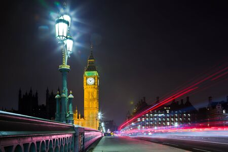 city of westminster: London City Westminster Big Ben at Night Stock Photo