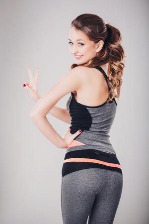 activewear: beautiful girl in sportswear beautiful girl in sportswear Stock Photo