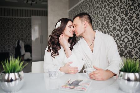 Schöne Hochzeit, Mann Und Frau, Liebhaber, Mann, Frau Im Weißen ...