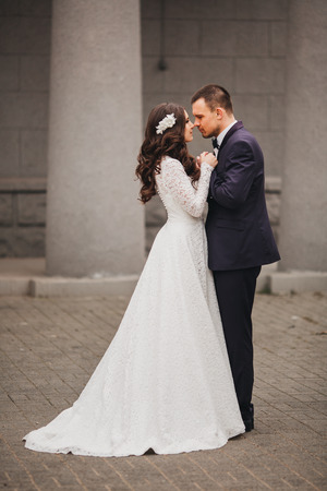 carribean: beautiful wedding, husband and wife, lovers man woman, bride and groom