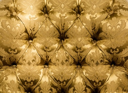 button tufted: Texture Vintage mustard color beautiful material, texture. Closeup, button material