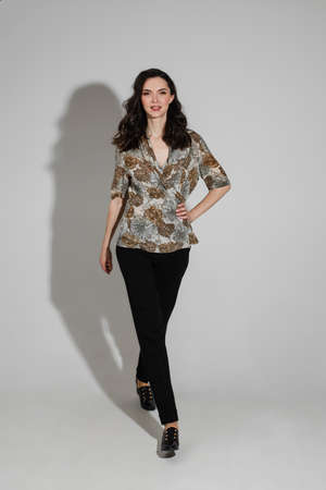 Beautiful woman in black heels. 版權商用圖片