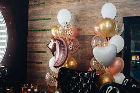 Lovely balloons being cute decoration in the room