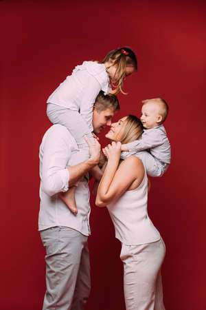 Love and happiness in the family of four