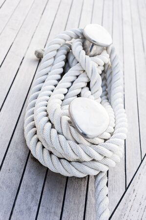 cleat: Rope tied