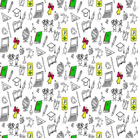 Doodles seamless pattern