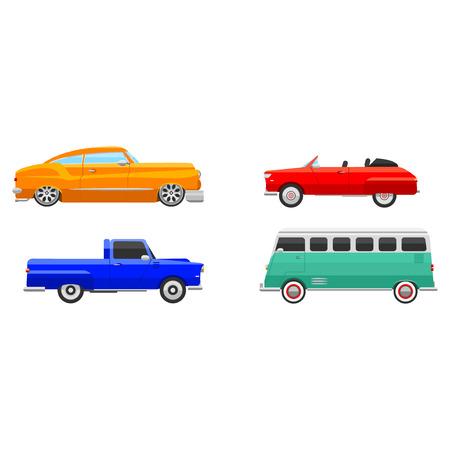Retro car vehicle.