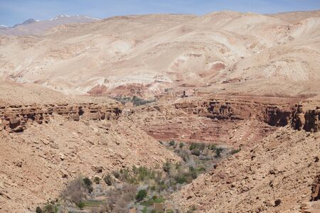 natural canyon on the way to Ouarzazate  photo
