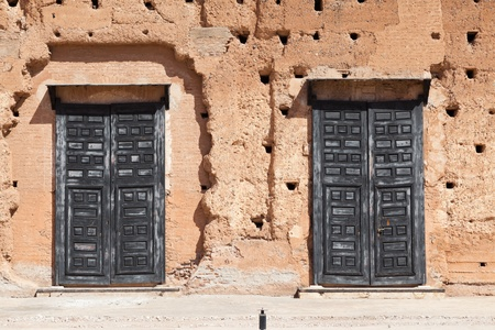 black doors Badi Palace