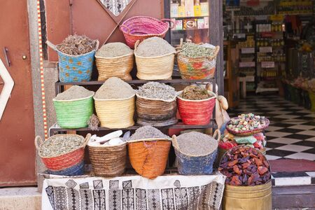 souk: spices in the souk of Marrakech, Morocco
