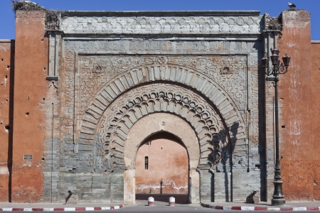 bab: Bad Agnaou door, one of the most important doors of Marrakesh