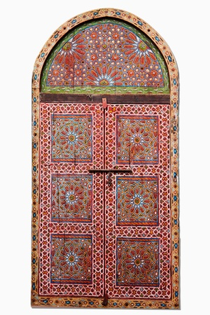 arched: cutout of a arabic wooden window Stock Photo