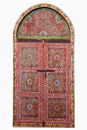 arcuate: ritaglio di una finestra in legno arabo Archivio Fotografico