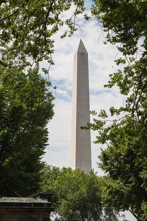 Washington monument on the mall in Washington DC framed by trees Stock Photo - 14802231