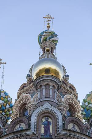saint petersburg: Church of the Resurections dome  Saint Petersburg