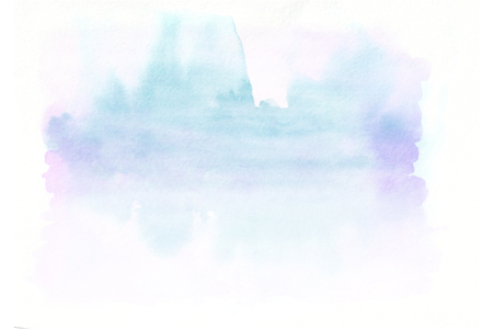 Blue and pink horizontal  watercolor  gradient  hand drawn  background. Bottom part is lighter than other sides of image.