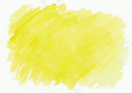 Yellow sunny horizontal watercolor gradient hand drawn background. Its useful for graphic design, backdrops, prints, wallpaper and etc
