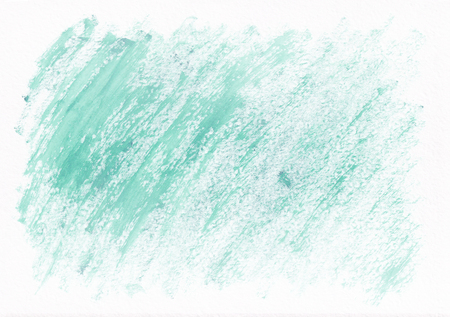Light teal dry horizontal  watercolor  hand drawn  background. Beautiful diagonal hard strokes of the paint brush